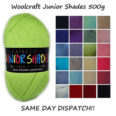 488 Rose WOOLCRAFT faircroft Junior Teintes DK Laine à Tricoter//Fils 500 g