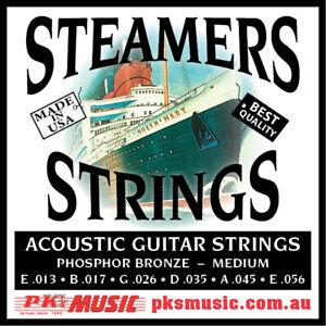 STEAMERS-MEDIUM-GAUGE-ACOUSTIC-GUITAR-STRINGS-13-56-MADE-IN-USA-FREE-POSTAGE