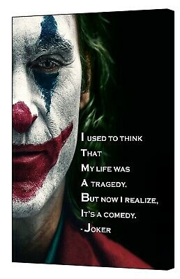 joker joaquin phoenix movie quote picture print on framed