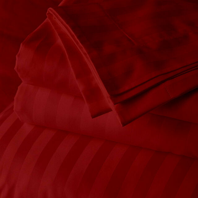 Peach Stripe Bed Sheet Set All Extra Deep Pkt /& Sizes 1000 TC Pure Egypt Cotton