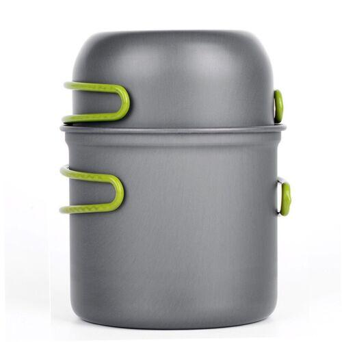 Camping Cookware Outdoor Cooking Pot Set Hiking Picnic Portable Pan Kit Stove