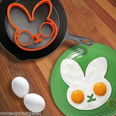 BUNNYSIDE UP EGG MOLD Kitchen Gift Cooking Tool Silicone Rabbit Pancake Ring Kid