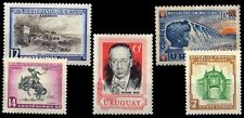 URUGUAY 5 Different Large Thematic Mint Stamps, Genuine Postage Stamps