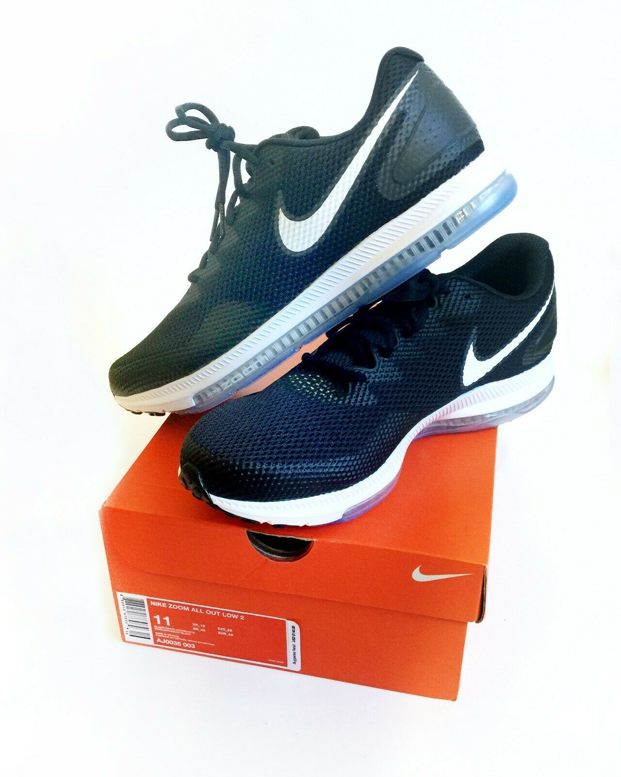 cheaper 77449 2f734 New Nike Zoom Zoom Zoom All Out B W Low 2 Mens All Terrain Workout   Running