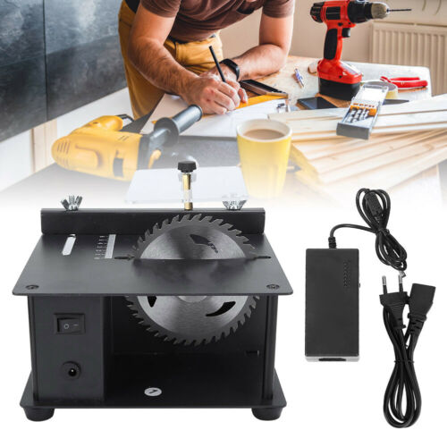 Mini Table Saw Small Woodworking Electric Bench Saw Handmade DIY Hobby Model