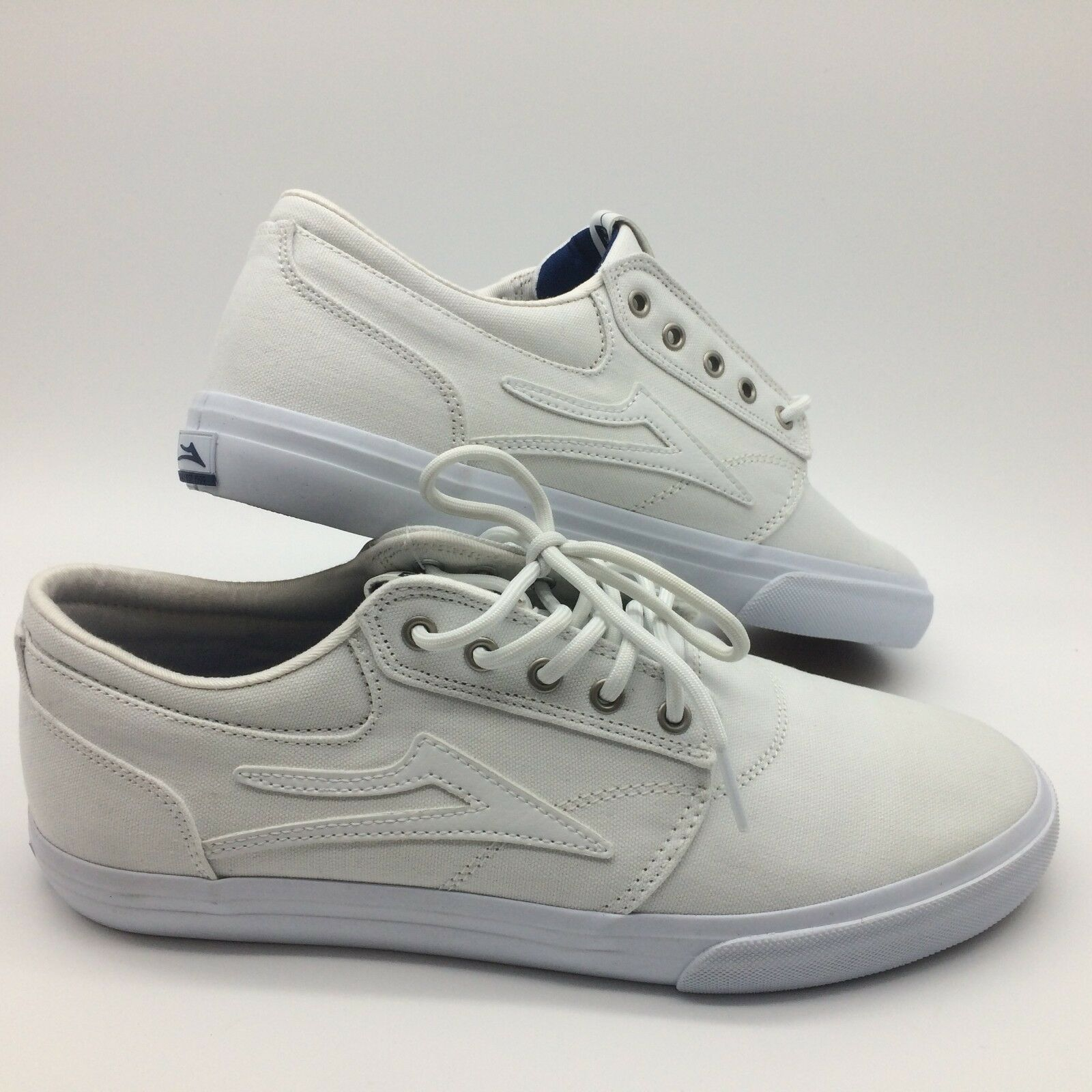 Lakai Men's shoes 'Griffin'''--White Canvas
