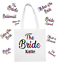 The BRIDE Personalised Bag Team Bride Squad Hen Party Wedding Gift Bags design 2