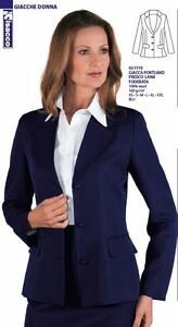 Donna Portland Isacco Wool Hostess Giacca Blu Cod 772 Receptionist Lined Cool 027 SqwIO