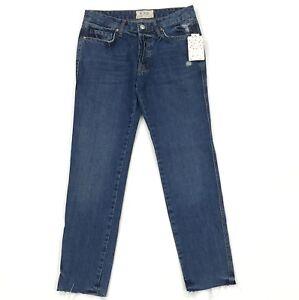 84ddf770745 New Free People Slim Fit Boyfriend Jeans Size 24 Women Blue ...