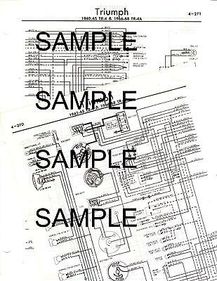 1971 Triumph Gt6 Gt 6 Mk Iii 71 Wiring Diagram Chart Ebay