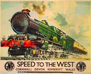 Speed West Great Britain Vintage Travel Advertisement Poster Picture Print