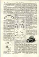 1891 Telegraph System Timing Apparatus Chronofer Perforate