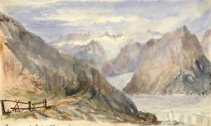 Cowan-Aletsch-Glacier-Switzerland-Late-19th-century-watercolour-painting