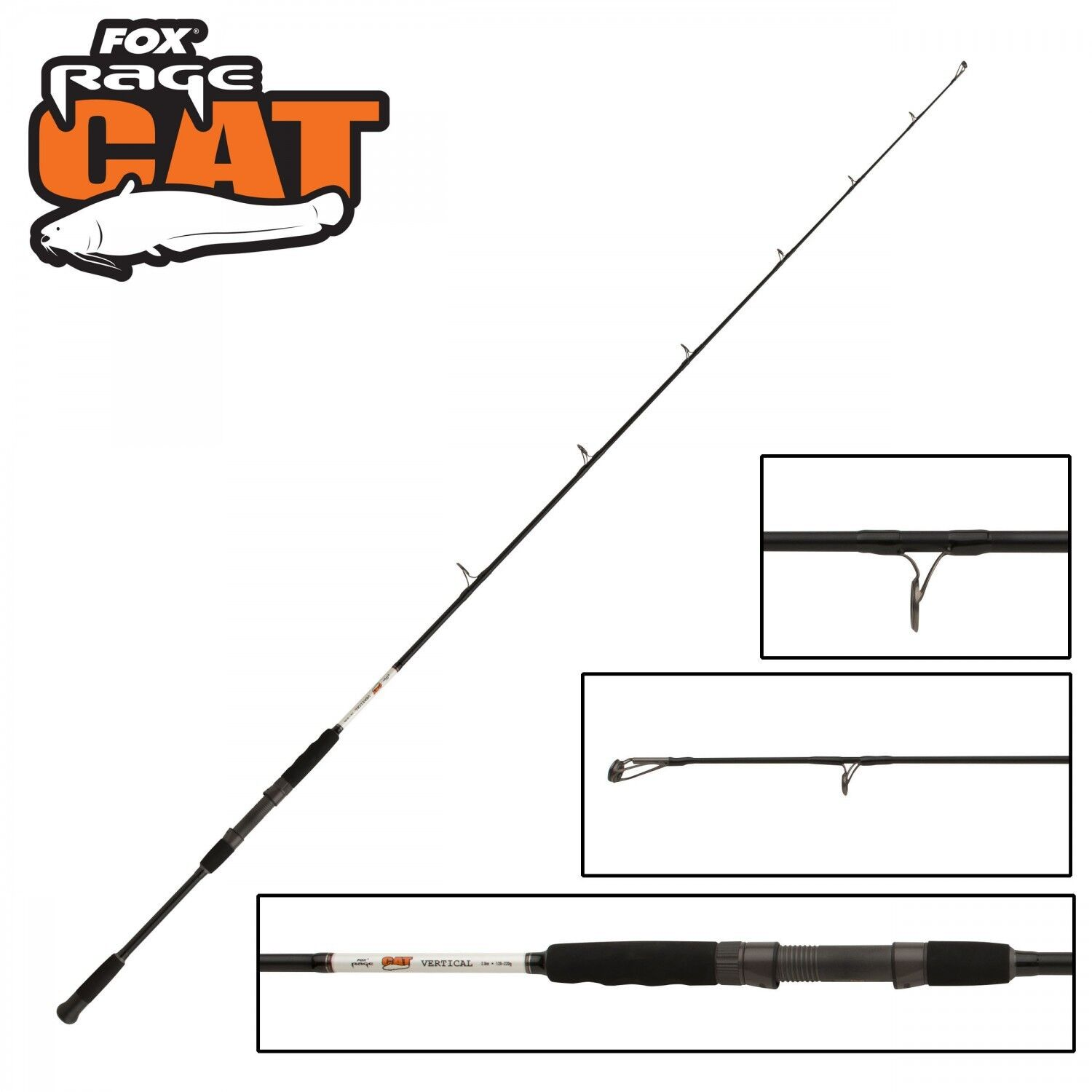 Fox Rage Cat Catfish Vertical 2,00m 120-220g, 120-220g, 120-220g, Vertikalrute für Waller, Welsrute d6fe76