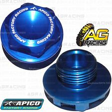 Apico Blue Headstock Steering Stem Nut For Husaberg FE 570 2012 MotoX Enduro