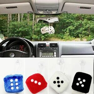 Styling-Auto-4-Colors-Hanger-Car-Pendant-Fuzzy-Dice-Dots-Interior-Decoration