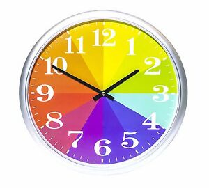 Kids Color Clock Rainbow Clock Kids Wall Clock Kids
