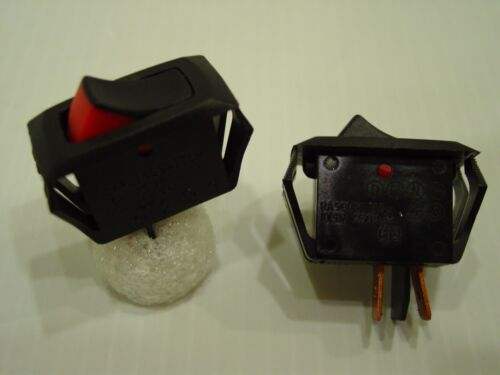 Black//Red Rocker Switch Swann 39 SPST ON//OFF Snap in Panel Mount 15A 125VAC
