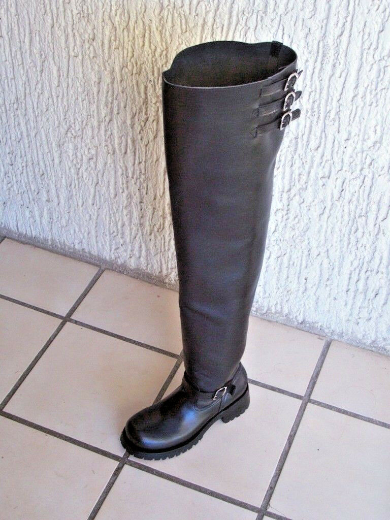 Thigh alta 37 Pulgadas botas de ingeniero de ejes de Cuero Pesado Hecho a Medida Cualquier Tamaño