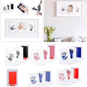 Baby-Newborn-Handprint-Footprint-Imprint-Clean-Touch-Ink-Pad-Photo-Frame-Newly