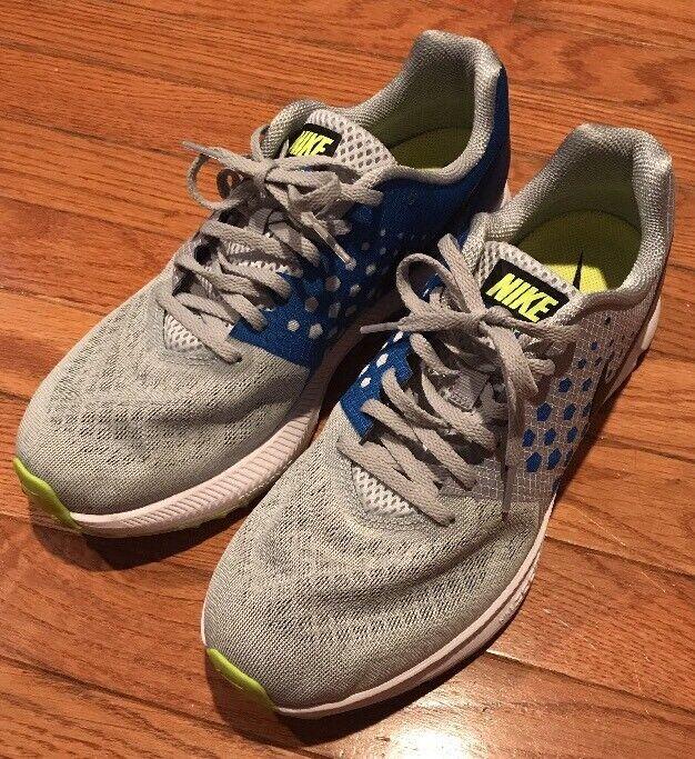 NIKE Zoom Span Mens Running Shoes Grey/Blue/Black Training Sneakers Size 8.5