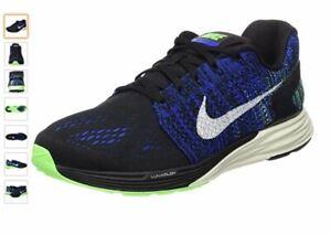 Nike Lunarglide 7 Homme Running 747355 005 Noir Vert Bleu rend hommage à nigt