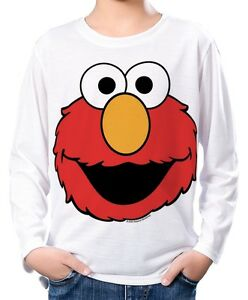 SESAME STREET ELMO BOYS KIDS T-SHIRT TEE AGE 3-13 NEW