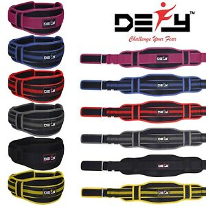 Weight-Lifting-Belt-Training-Gym-Fitness-Bodybuilding-Back-Support-Workout-New