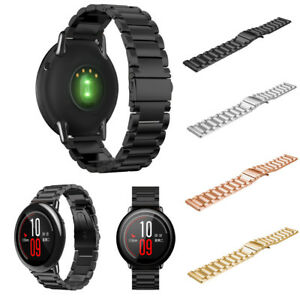 Edelstahl-Armband-Uhrenarmband-Fuer-Xiaomi-Huami-Amazfit-A1602-Schnellverschluss