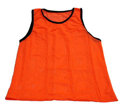 New Orange Scrimmage Vest Cheap Soccer Pinnie Mesh Bib Practice 1 Qty, Youth