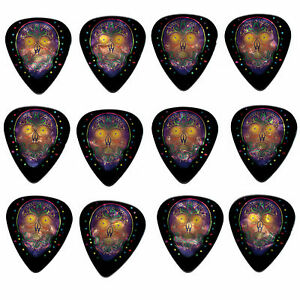 12-Pack-DAY-DEAD-SUGAR-SKULL-PURPLE-Medium-Gauge-351-Guitar-Picks-Plectrum