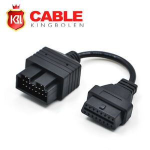 20 Pin To 16 Pin OBDII Female Car Diagnostic Adapter Connector Cable For KIA 724190798768
