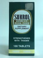 1 Sukrol Dietary Supplement 100 Tabs / Suplemento Alimenticio Sukrol