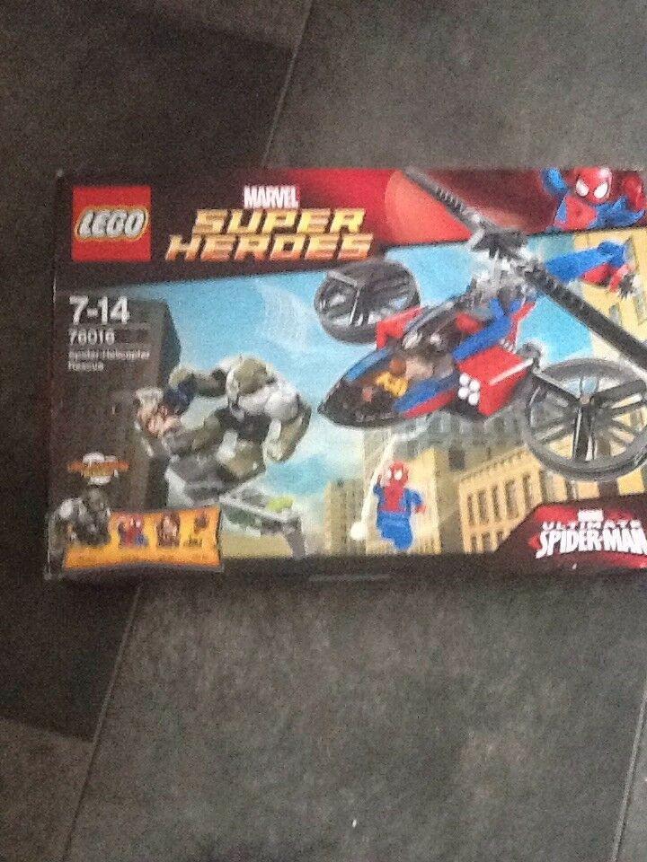 LEGO MARVEL 76016 SUPER HEROES SPIDER HELICOPTOR RESCUE RETIRED BRAND NEW & SEAL