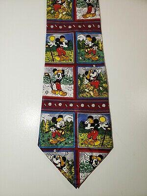 Mickey Mouse Golfing Necktie Disney Mickey /& Co Mickey Mouse Neck Tie Golfing Necktie Novelty Tie 100 Percent Silk