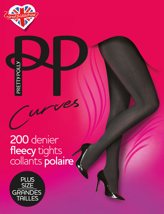 620ab1d782e Pretty Polly 200 Denier Fleecy Opaque Plus Size Tights for sale online