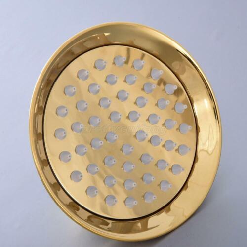 Polished Gold Btass Round Rainfall Shower Head Bathroom Rain Showerhead