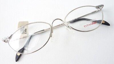 Obbiettivo Elastico Titanflex Telaio Occhiali Donna Argento Eyeglasses Cateye Misura M-mostra Il Titolo Originale Evidente Effetto