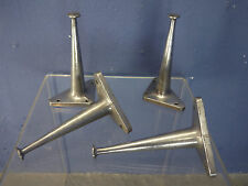 4 VINTAGE INDUSTRIAL FURNITURE LEGS MID CENTURY 50s 60s SALVAGED CAST ALUMINUM