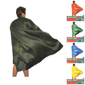 NEW-Adult-Kids-Plain-Colour-Cape-Sports-Day-Superhero-Fancy-Dress-Party-Cape