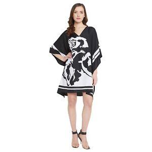 Tunic Top Blouse V Neck Kimono Sleeve Casual Women Boho Short Loose Kaftan Dress