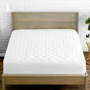 Premium-Quilted-Fitted-Mattress-Pad-Cooling-Mattress-Topper-Hypoallergenic