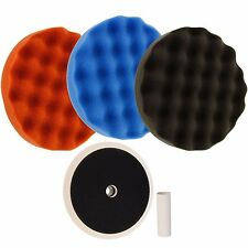 Floor Buffing Pads Foam Cars Set Of 3 Polishing Finish 8 Inch Grip Backing Plate