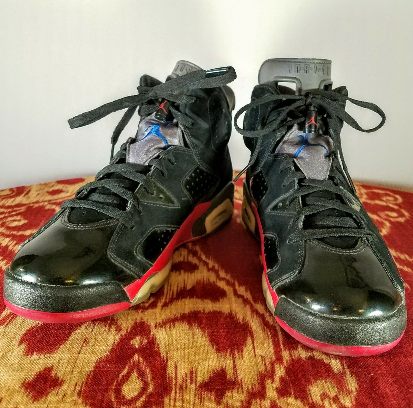 Nike - Air Jordan - VI 6 Retro Price reduction - Black Blue Red Pistons - Mens US 9 Special limited time
