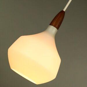 Holmegaard-Pendel-Leuchte-Glas-Teak-Haenge-Lampe-Design-Pendant-Light-50er