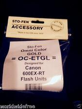 Sto-Fen Omni-Bounce OC-ETGL Gold Diffuser Canon 600EX-RT Flash Stofen Free