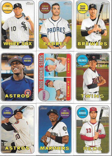 2018 TOPPS HERITAGE #201 THRU #400 SINGLES***YOU PICK***