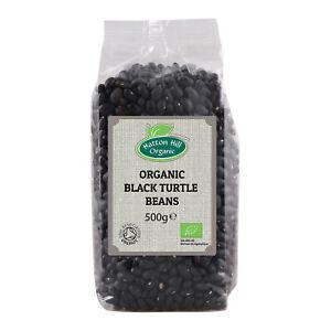 Organic Black Turtle Haricots 500 G Certified Organic-afficher Le Titre D'origine Texture Nette
