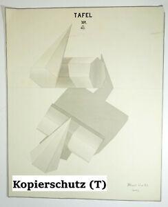 Technische Handzeichnung Kubismus Geometrie Formen Deko Zeichnung drawing 1900er