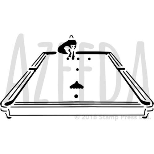 WS024163 /'Man Playing Snooker/' Wall Stencils Templates